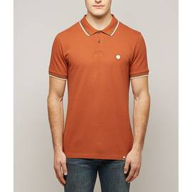Orange  Tipped Pique Polo Shirt
