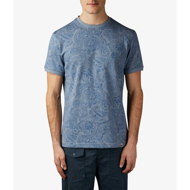 Mens Paisley Jacquard T-Shirt