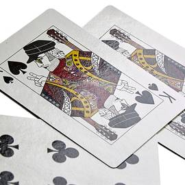 Black Pretty Green Playing Cards