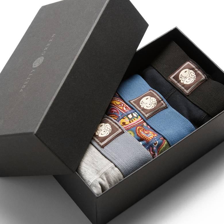 Mens 3 Pack Boxer Shorts Gift Set