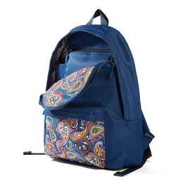 Vintage Paisley  Nylon Backpack With Paisley Pocket