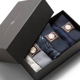 Navy  3 Pack Boxer Shorts Gift Set