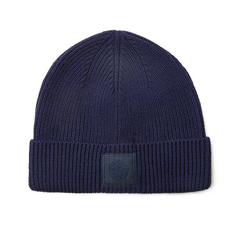 Mens Solid Knitted Beanie