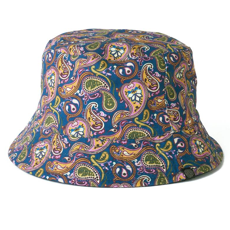 Mens Reversible Paisley Print Bucket Hat 0f17a207180