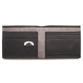 Black  Logo Bi Fold Wallet