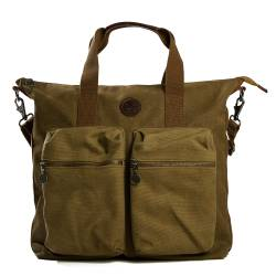 Khaki  Canvas Tote Bag