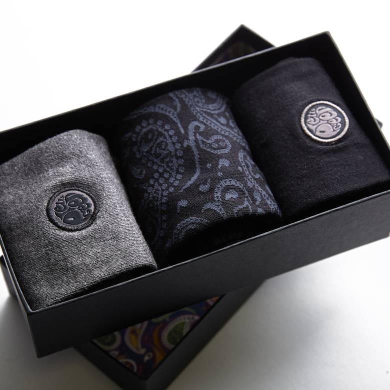 Mens 3 Pack Paisley Sock Gift Set