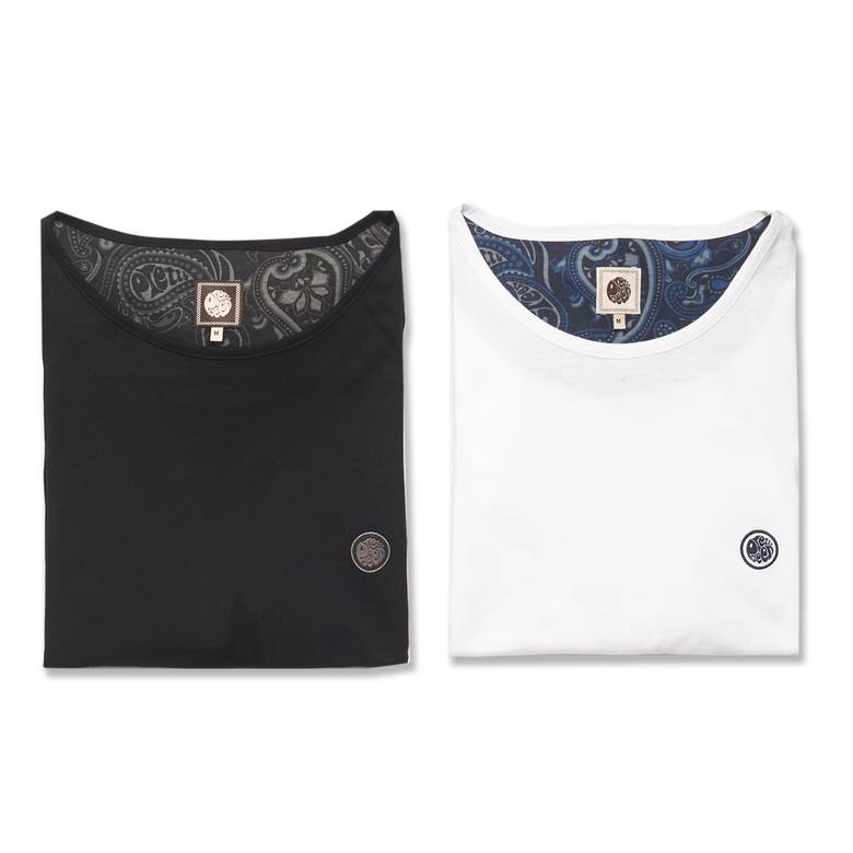 Mens 2 Pack Crew Neck T-Shirt Gift Set