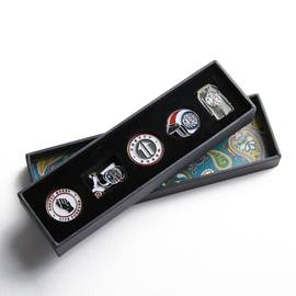 Multi-Colour 5 Pack Pin Badge Gift Set