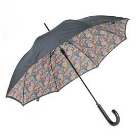 Black Vintage Paisley Walker Umbrella