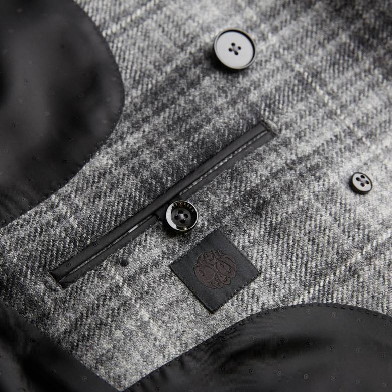 Mens Wool Double Breasted Jacket