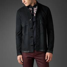 Black  Suede Button Up Jacket