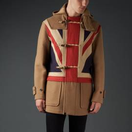 Camel Wool Union Jack Gloverall Duffle Coat