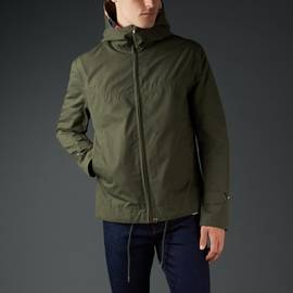 Khaki  Waterproof Hooded Jacket