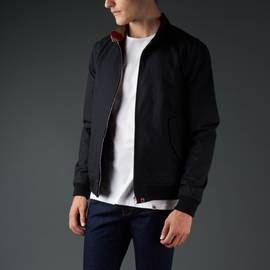 Black  Waterproof Zip Up Harrington