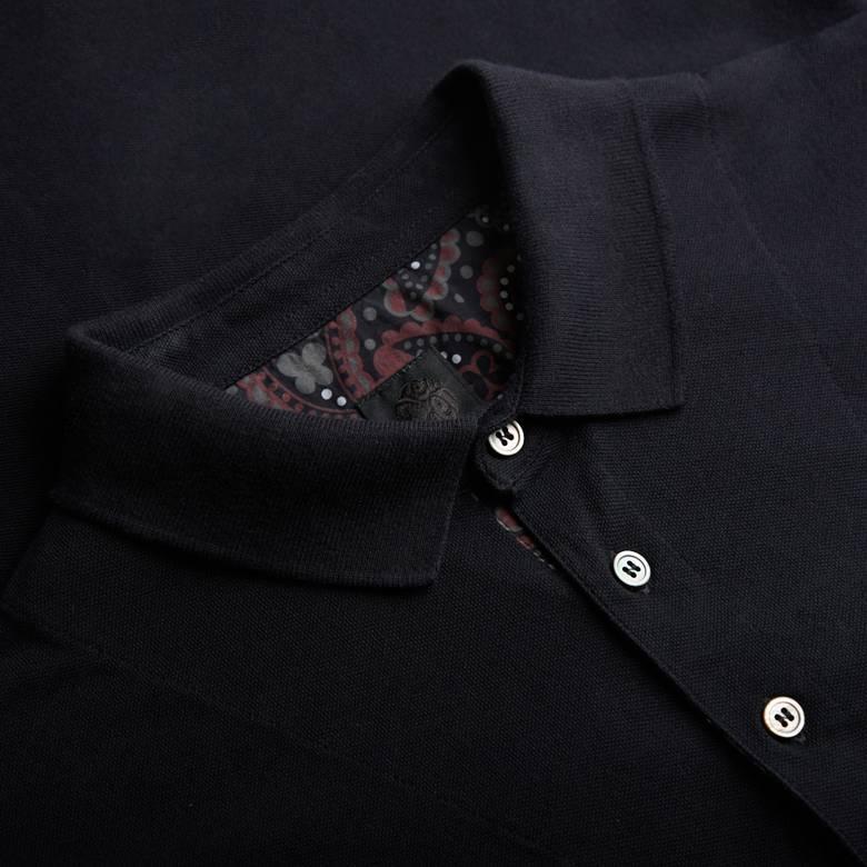 Mens Long Sleeve Pique Polo Shirt