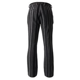 Black  Wool Stripe Trouser