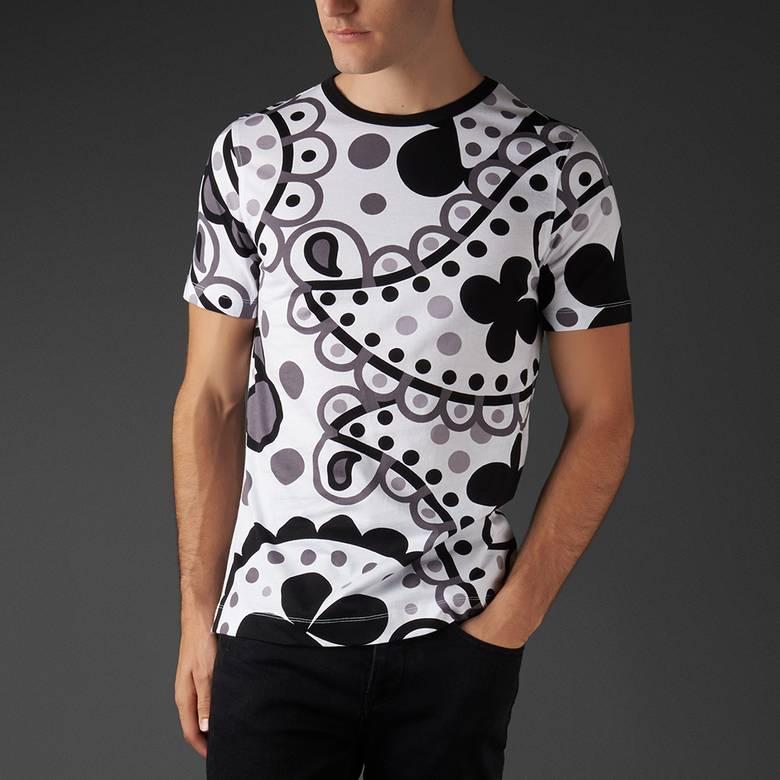 Mens Paisley Print T-Shirt