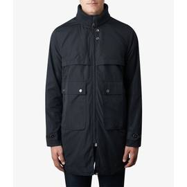Black  Zip Up Funnel Neck Parka