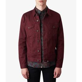 Burgundy  Button Up Jacket