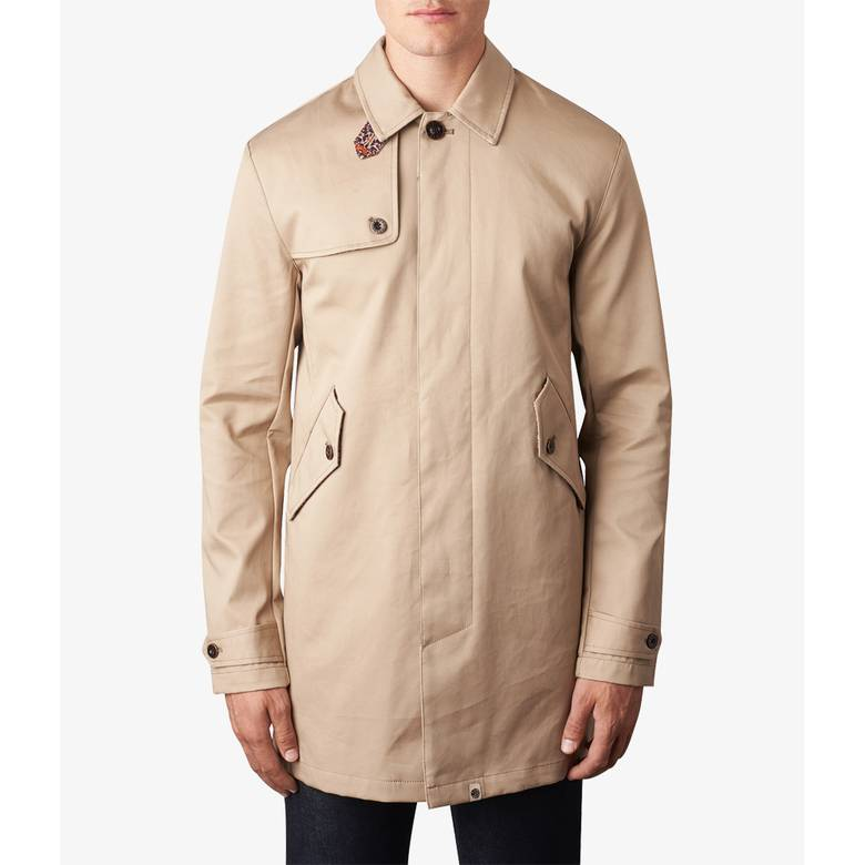 Mens Button Up Trench Coat