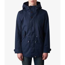 Navy  Hooded Parka