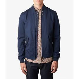 Navy  Short Zip Through Jacket