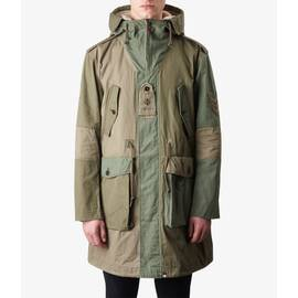 Khaki  Lightweight Cotton Parka