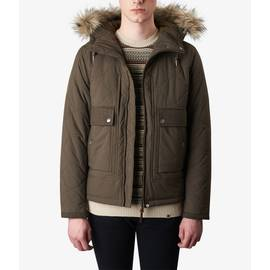 Khaki  Contrast Quilted Jacket
