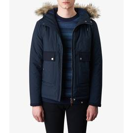 Navy  Contrast Quilted Jacket