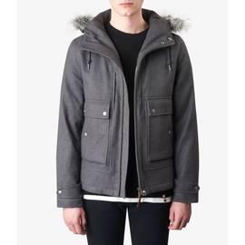 Grey Hooded Zip through Jacket