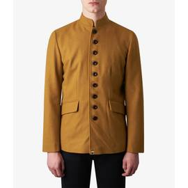 Mustard  Wool Single Breasted Jacket