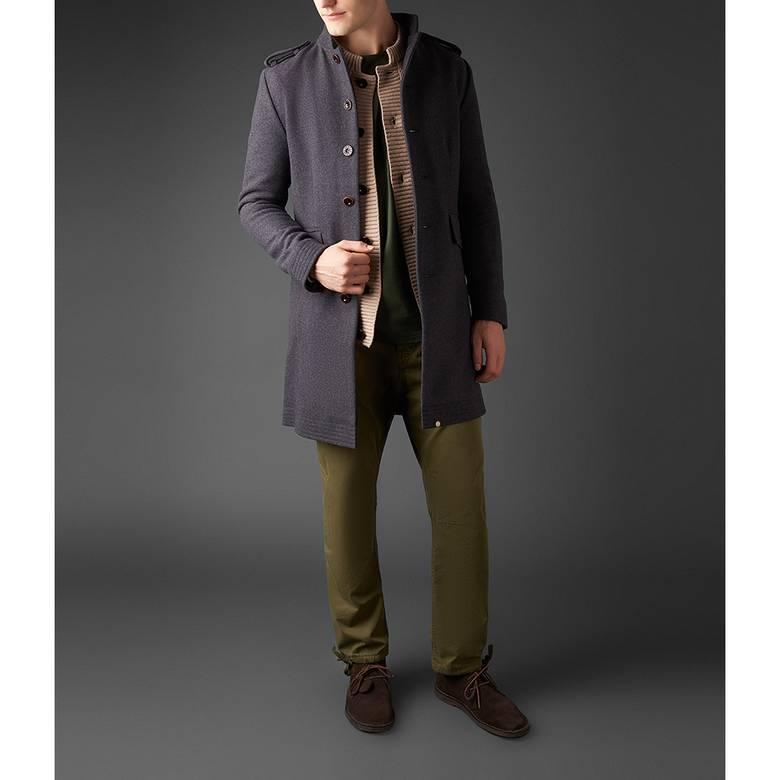 Mens Wool Single Breasted Coat