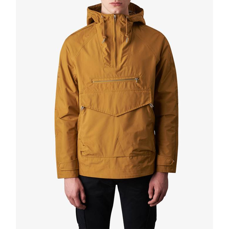 Mens Water Resistant Overhead Hooded Jac