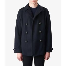 Navy  Wool Double Breasted Peacoat