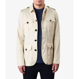 Stone  Lightweight Cotton Button Up Jacket