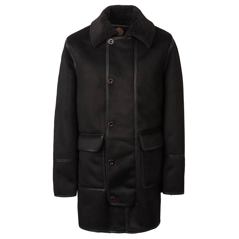 Mens Faux Shearling Coat