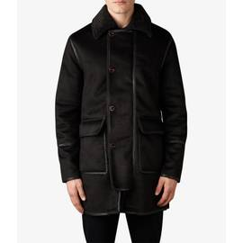 Black  Faux Shearling Coat