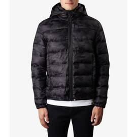 Black  Camo Quilted Jacket