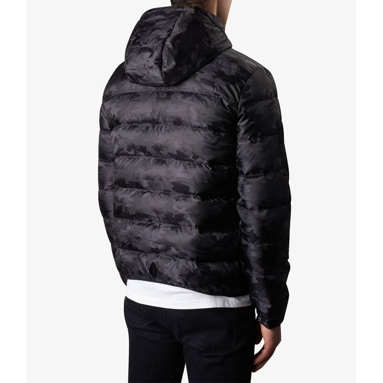 Mens Camo Quilted Jacket