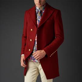 Red  Strawberry Fields Coat