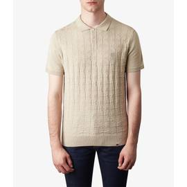 Stone  Knitted Jacquard Polo Shirt