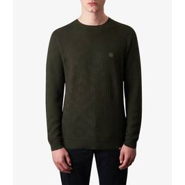 Green  Knitted Jacquard Crew Neck Jumper