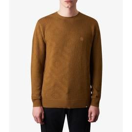Mustard  Knitted Jacquard Crew Neck Jumper