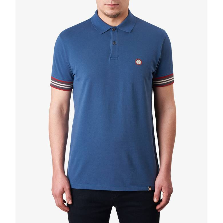 Mens Contrast Tipped Pique Polo Shirt