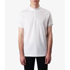 White  Grandad Neck T-Shirt