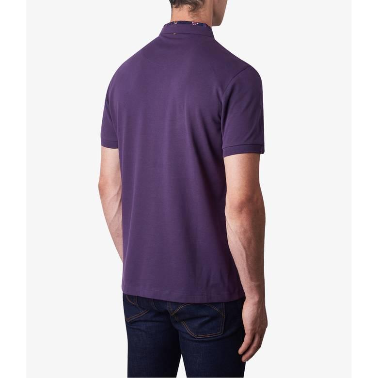 Mens Floral Print Collar Polo Shirt