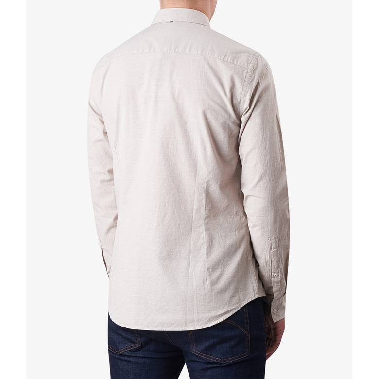 Mens Slim Fit Nep Fleck Shirt