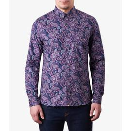 Purple  Slim Fit Paisley Print Shirt