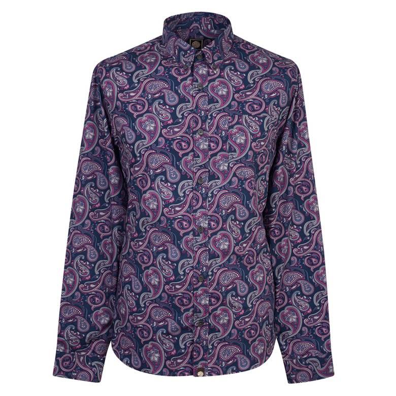 Mens Slim Fit Paisley Print Shirt